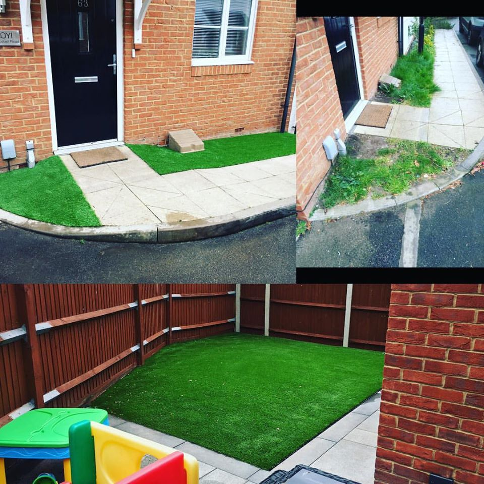 Artificial Grass – Front and Back Garden