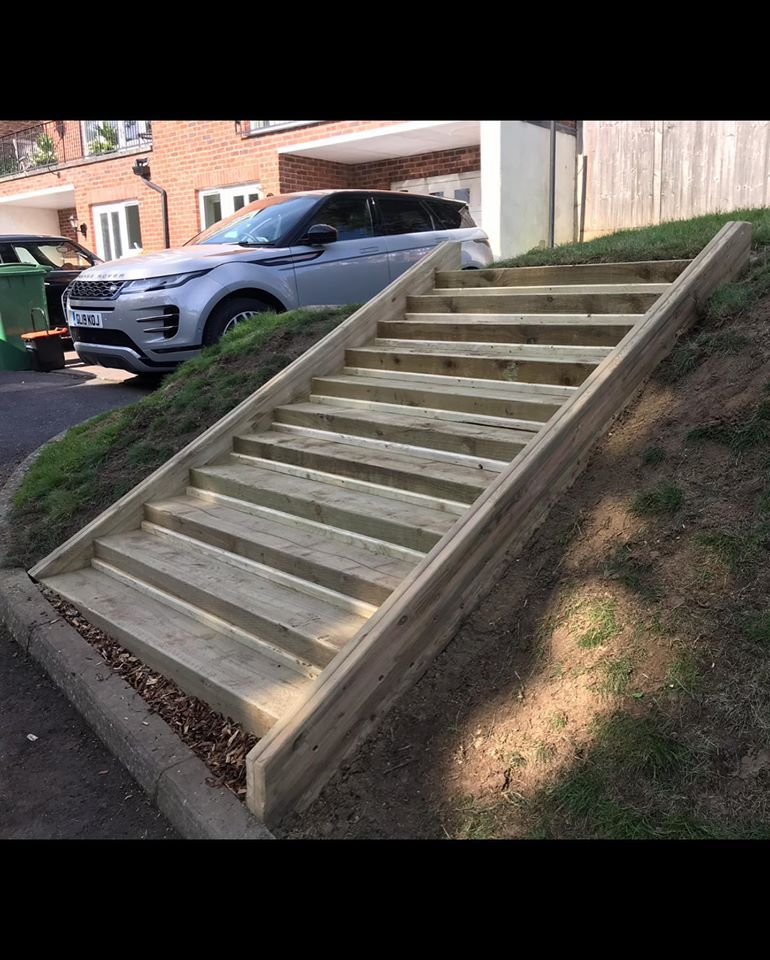 Timber Step Installation